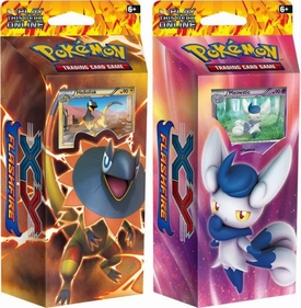 Pokemon Flashfire (XY2) Set of BOTH Decks [Mystic Typhoon & Brilliant Thunder]