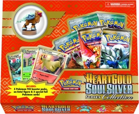Pokemon Heartgold Soulsilver Series Collection Box [5 Booster Packs, 3 Foil Cards & Entei Basic Figure]