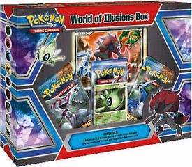 Pokemon World of Illusions Special Edition Box [3 Booster Packs, Celebi Prime & Zoroark Promo]