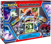 Pokemon Card Game World of Illusions Special Edition Box [3 Booster Packs, Celebi Prime & Zoroark Promo]