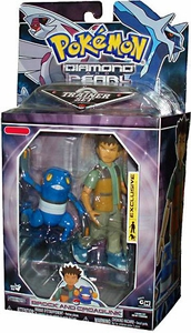 Pokemon Diamond & Pearl Exclusive Deluxe Action Figure Trainer Set Brock & Croagunk