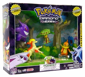Pokemon Diamond & Pearl Exclusive Forest Scene Playset [Includes 5 Figures!] Gengar Exclusive!