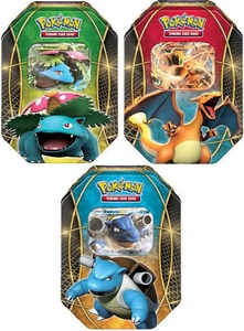 Pokemon Set of 3 Fall 2014 Tin Sets [Blastoise-EX, Charizard-EX & Venusaur-EX] New!
