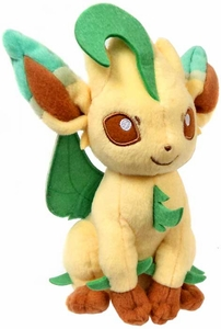 Pokemon TOMY 8 Inch Evolutions Plush Leafeon New!