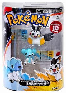 Pokemon TOMY Basic Figure 2-Pack Cubchoo & Emolga