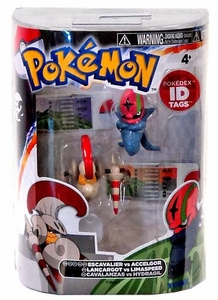 Pokemon TOMY Basic Figure 2-Pack Escavalier & Accelgor