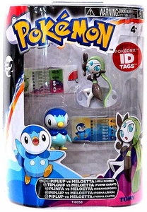 Pokemon TOMY Basic Figure 2-Pack Piplup & Meloetta {Aria Form}