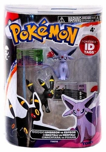 Pokemon TOMY Basic Figure 2-Pack Umbreon & Espeon
