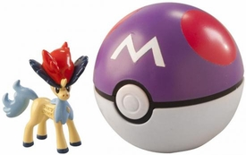 Pokemon TOMY LOOSE Clip 'n Carry Poke Ball Keldeo & Master Ball
