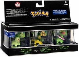 Pokemon Trainer's Choice Mini Figure 3-Pack Chikorita, Bayleef & Meganium