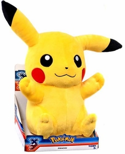 Pokemon XY TOMY 18 Inch Basic Plush Pikachu [Sitting, Closed Mouth]