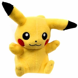 Pokemon XY TOMY 8 Inch Basic Plush Pikachu [Sitting Closed Mouth] BLOWOUT SALE!