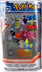 Pokemon XY TOMY Basic Figure 4-Pack Blastoise, Flabebe, Fletchling & Manectric