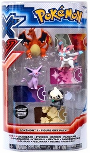Pokemon XY TOMY Basic Figure 4-Pack Charizard, Sylveon, Espeon & Pancham