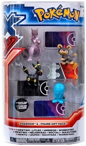 Pokemon XY TOMY Basic Figure 4-Pack Mewtwo, Litleo, Umbreon & Wobbuffet
