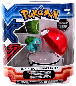 Pokemon XY TOMY Clip 'n' Carry Poke Ball Bulbasaur Figure & Pok Ball