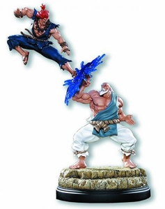 Pop Culture Shock Street Fighter Diorama Statue Gouken Vs Akuma