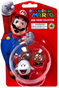 Popco Super Mario Brothers Series 4 Vinyl Mini Figure Boo & Goomba
