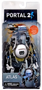 Portal 2 NECA 7 Inch Action Figure Atlas [Light-Up Body & Portal Gun] New!