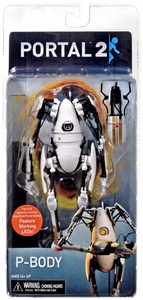 Portal 2 NECA 7 Inch Action Figure P-body [Light-Up Body & Portal Gun]