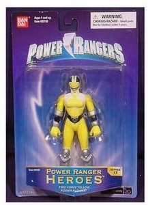 Power Rangers Heroes Action Figure Series 13 Yellow Ranger BLOWOUT SALE!
