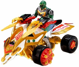 Power Rangers Mystic Force LOOSE ATV Vehicle Magic Tracker with Green Ranger Action Figure