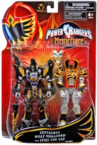 Power Rangers Mystic Force Exclusive Action Figure Set 2-Pack Centaurus Wolf Megazord & Jenji the Cat
