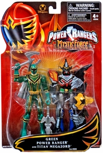 Power Rangers Mystic Force Exclusive Action Figure Set 2-Pack Green Power Ranger & Titan Megazord
