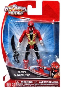 Power Rangers Super Megaforce 4 Inch Basic Action Figure Red Ranger