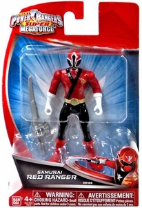 Power Rangers Super Megaforce 4 Inch Basic Action Figure Samurai Red Ranger