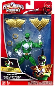 Power Rangers SUPER Megaforce Action Figure Armored Mighty Morphin Green Ranger