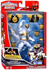 Power Rangers SUPER Megaforce Action Figure Armored Mighty Morphin White Ranger