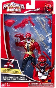 Power Rangers SUPER Megaforce Action Figure Armored Super Mega Red Ranger New!