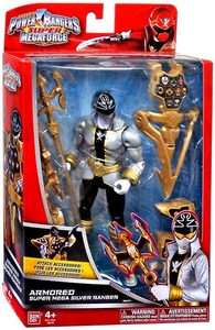 Power Rangers SUPER Megaforce Action Figure Armored Super Mega Silver Ranger