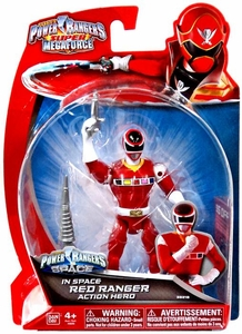 Power Rangers SUPER Megaforce Basic Action Figure In Space Red Ranger New!