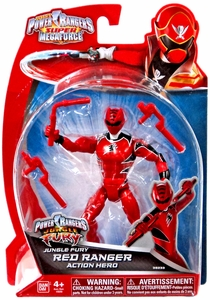 Power Rangers Super Megaforce Basic Action Figure Jungle Fury Red Ranger