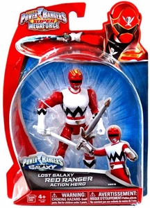 Power Rangers Super Megaforce Basic Action Figure Lost Galaxy Red Ranger New!