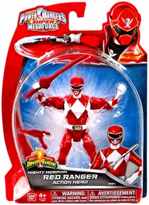 Power Rangers Super Megaforce Basic Action Figure Mighty Morphin Red Ranger Hot!