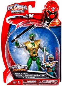 Power Rangers Super Megaforce Basic Action Figure Ninja Storm Green Samurai Ranger New!
