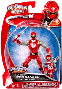 Power Rangers Super Megaforce Basic Action Figure Ninja Storm Red Ranger New!