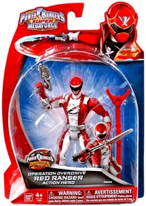 Power Rangers SUPER Megaforce Basic Action Figure Operation Overdrive Red Ranger New!