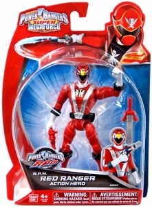 Power Rangers Super Megaforce Basic Action Figure RPM Red Ranger New!
