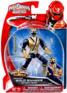 Power Rangers Super Megaforce Basic Action Figure Samurai Gold Ranger