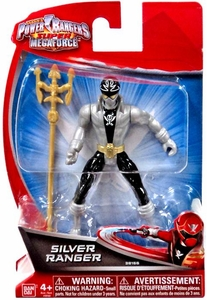 Power Rangers Super Megaforce 4 Inch Basic Action Figure Silver Ranger New!