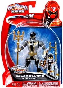 Power Rangers SUPER Megaforce Basic Action Figure Super Megaforce Silver Ranger