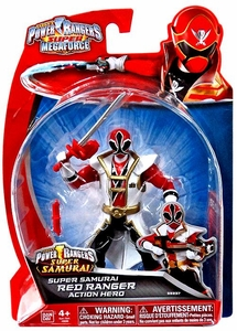 Power Rangers SUPER Megaforce Basic Action Figure Super Samurai Red Ranger New!