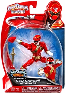 Power Rangers Super Megaforce Basic Action Figure Wild Force Red Ranger