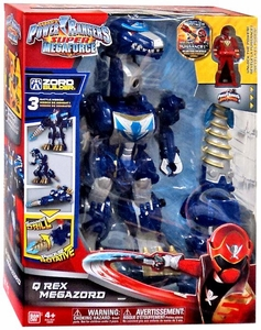 Power Rangers Super Megaforce Deluxe Action Figure Q Rex Megazord New!