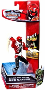 Power Rangers Super Megaforce Double Battle Action Figure Red Ranger [Glow-in-the-Dark] New!