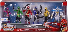 Power Rangers SUPER Megaforce Exclusive Action Figure 6-Pack Pink, Green, Red, Blue, Yellow & Prince Vekar